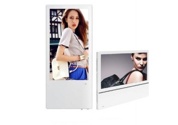 18.5寸壁挂分众超薄高清双屏电梯楼宇广告机